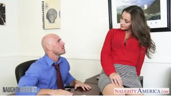 Hot Office Babe Dani Daniels Riding Snopp